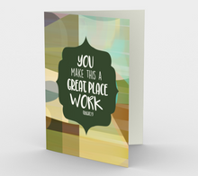 1160. Great Place To Work  Card by DeloresArt