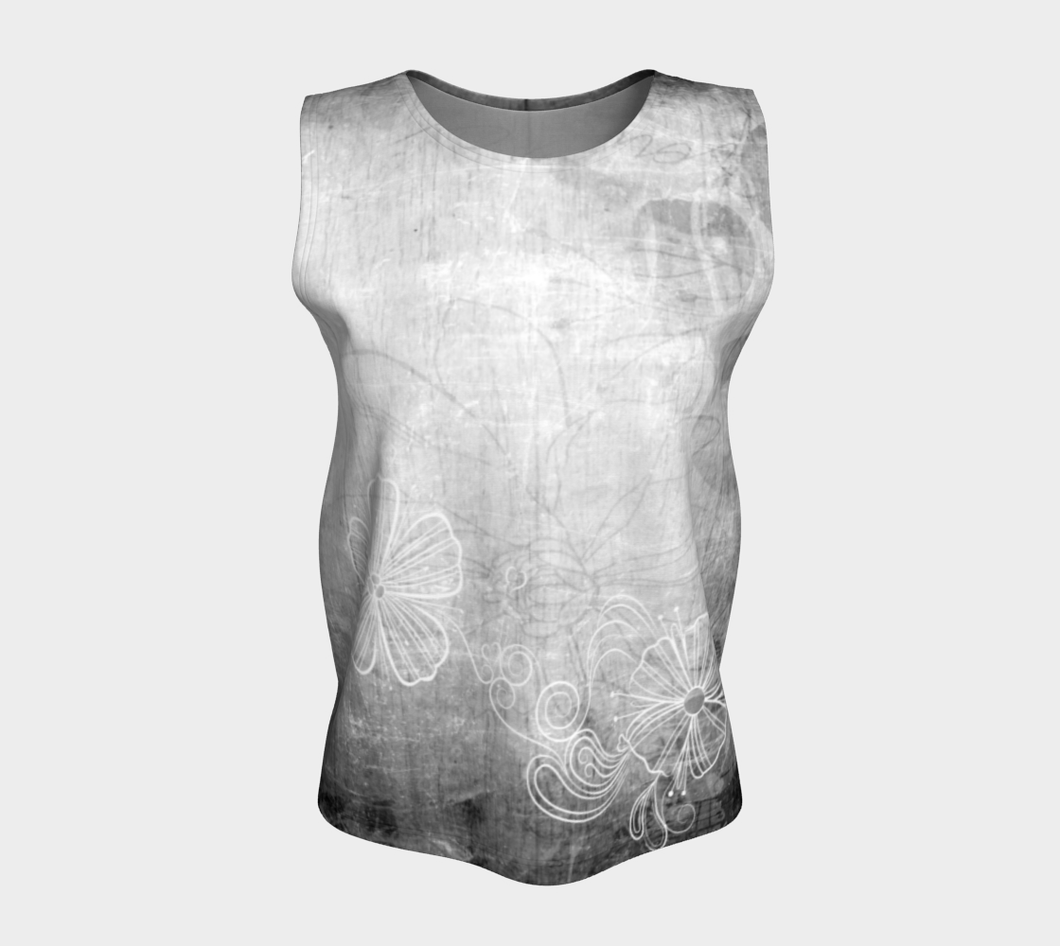 Bra Off Loose Tank by Deloresart in Grey - deloresartcanada