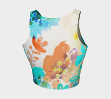 I Am A Queen Teal Crop Top by Deloresart - deloresartcanada