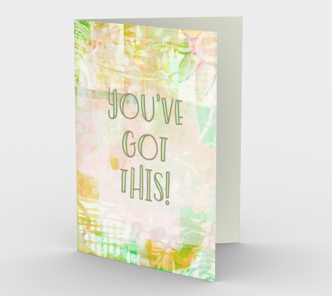 1272. You Got This Floral  Card by DeloresArt