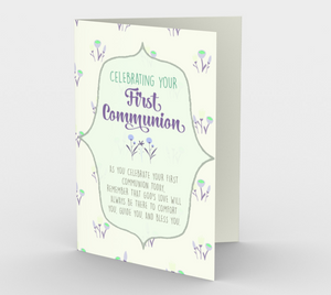 1301. First Communion/God's Love  Card by DeloresArt