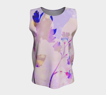 Breezy Blooms Loose Tank by Deloresart in Purples