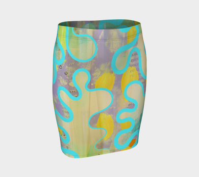 Sassy Serpentine Fitted Skirt by Deloresart