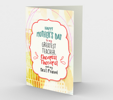 1060.Happy Mother's Day-Therapist-Best Friend  Card by DeloresArt