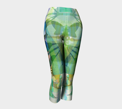 Graceful Sappling Collage Capris by Deloresart