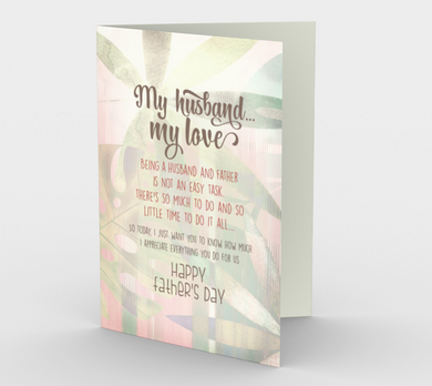 1146. My Husband, My Love  Card by DeloresArt