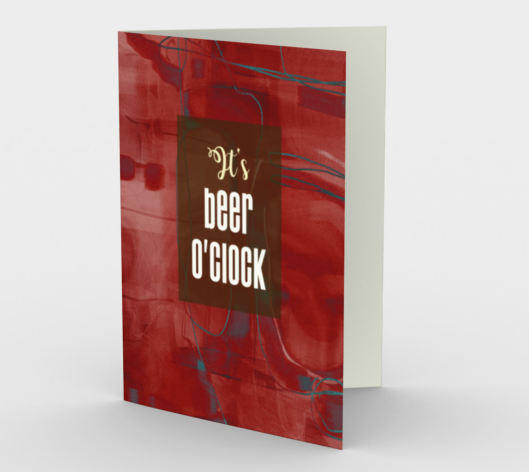 0633.It's Beer O'Clock  Card by DeloresArt