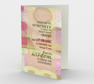 1308. Grant Me Serenity v.4  Card by DeloresArt
