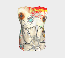 Flower Power Loose Tank by Deloresart in Reds