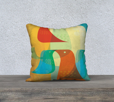 Birds of a Feather Pillow by Deloresart