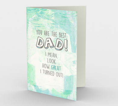 1254. You Are The Best Dad  Card by DeloresArt
