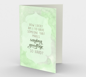 1352 Saying Goodbye So Hard Card by Deloresart