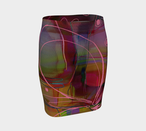 Trust Me, You Can Dance Fitted Skirt by Deloresart