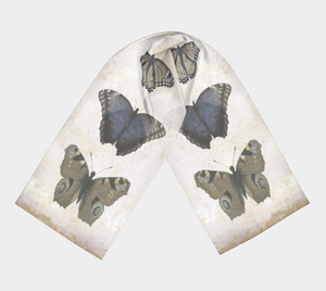 Muted Butterflies Scarf by Deloresart