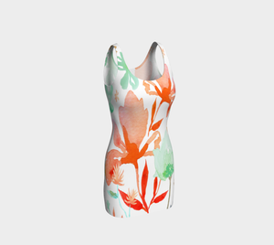Dreamy Coral Garden Bodycon Dress by Deloresart
