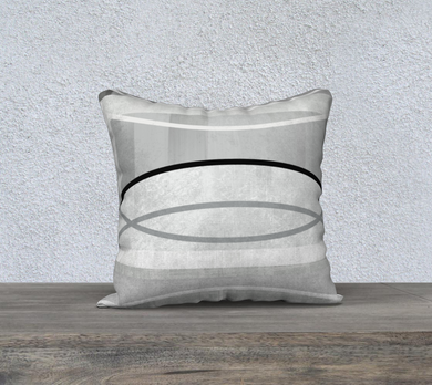 Coaxial Grays Throw Pillow by Deloresart