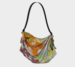Verdant Garden in Golds Origami Tote by Deloresart