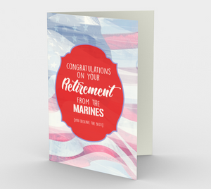1377 Retirement/Marines Card by Deloresart