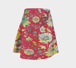 Francella Red Flare Skirt by Deloresart