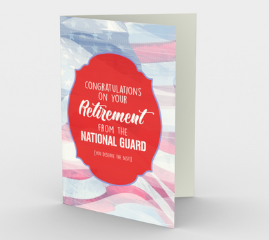 1376 Retirement/National Guard Card by Deloresart