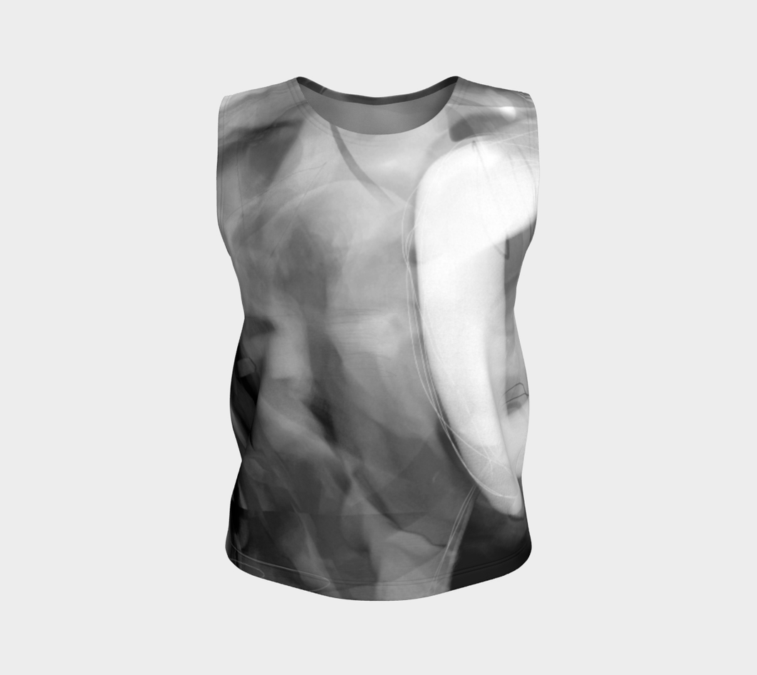Good Wine Loose Tank by Deloresart in Greyscale - deloresartcanada