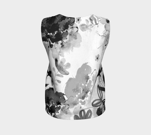 I Am A Queen Loose Tank by Deloresart in Greyscale