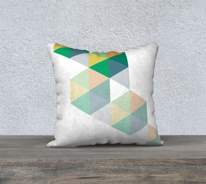 Coaxial Greens Throw Pillow by Deloresart