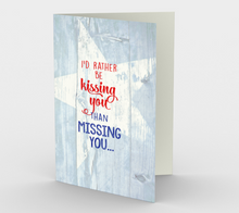 1373 I'd Rather Be Kissing You Card Card by Deloresart