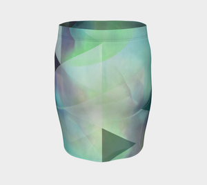 Be Still Textural Fitted Skirt by Deloresart