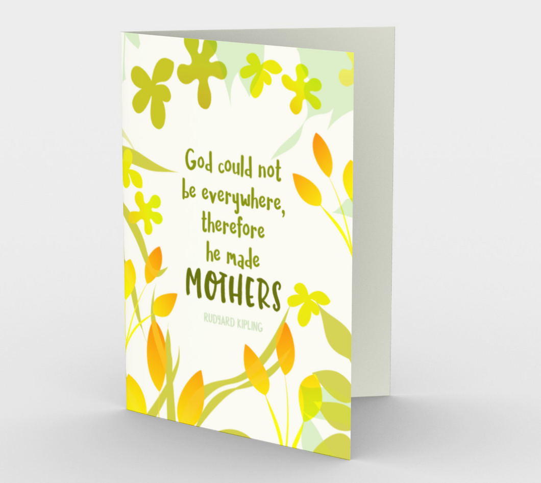 0945.God Made Mothers  Card by DeloresArt