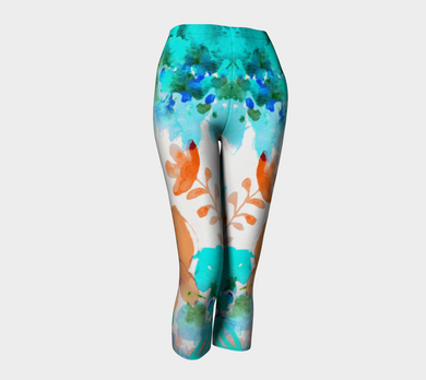 I Am A Queen Teal Capris by Deloresart