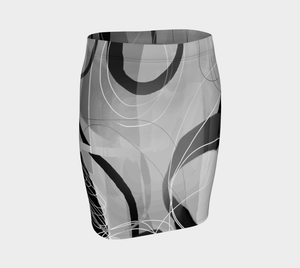 Shenanigans Black Fitted Skirt by Deloresart