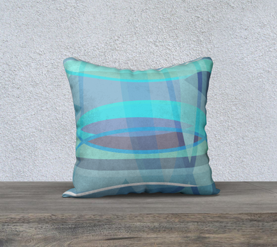 Align Misalign Blues Throw Pillow by Deloresart