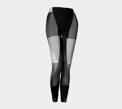 Unhinged Black Leggings by Deloresart