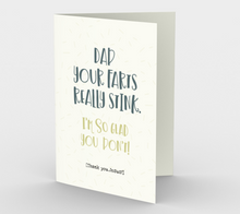 1255. Dad Your Farts Really Stink  Card by DeloresArt
