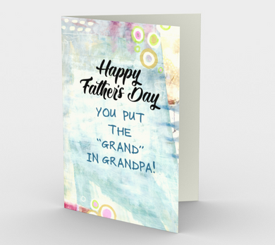 1226. Grand in Grandpa  Card by DeloresArt