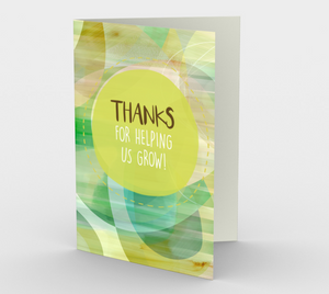 1162. Thanks For Helping Us Grow  Card by DeloresArt
