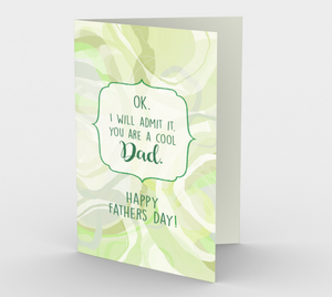 1430 Cool Dad-Father's Day Card by Deloresart