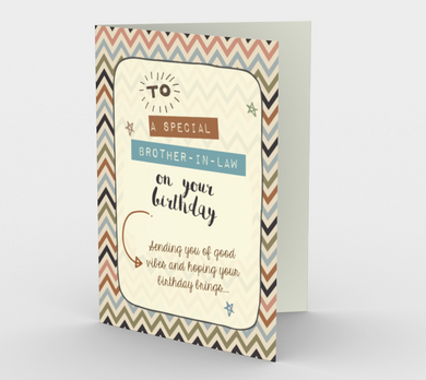 1280. Special Brother-in-Law  Card by DeloresArt