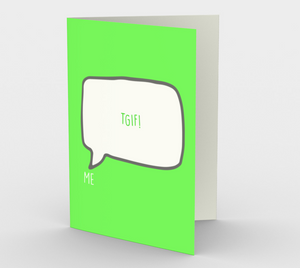 1190. TGIF  Card by DeloresArt