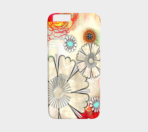 924  Floral Co Ordinate Device Case - deloresartcanada