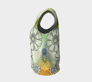 Flower Power Loose Tank by Deloresart Golden