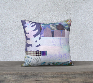 Trailing Petals Throw Pillow by Deloresart