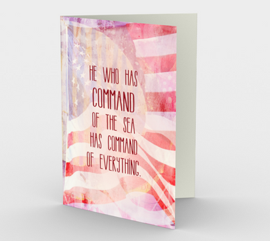 1361 He Who Has Command/Veteran Card by Deloresart