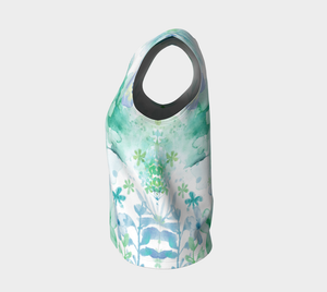 Harmonious Garden Loose Tank in Muted Greens
