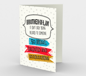 1285. Brother-in-Law/Bright, Talented  Card by DeloresArt