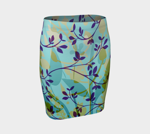 Fanciful Forest Fitted Skirt by Deloresart