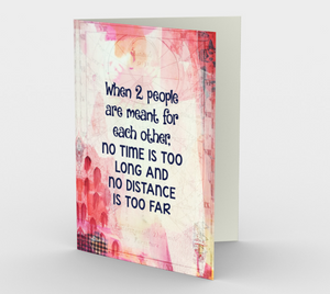1394 When Two People Are Meant For Each Other Card by Deloresart