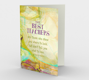 0471.The Best Teachers  Card by DeloresArt
