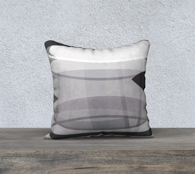 Align Misalign Grays Throw Pillow by Deloresart